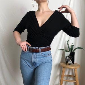 2/$20 |sophisticated quarter-length sleeve y2k top